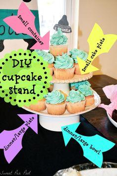 Sweet Pea Pod: DIY cupcake stand