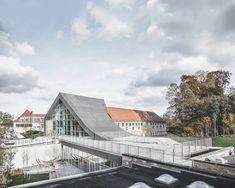 Gallery of Mariehøj Cultural Centre / Sophus Søbye Arkitekter + WE Architecture - 26 Cultural Architecture, Architecture Visualization, Concept Architecture, Facade Architecture, Amazing Architecture, Contemporary Architecture, Landscape Architecture, Interior Design Elements, Cultural Center