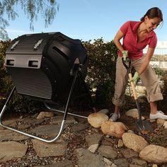 Lifetime 304 Litre Gallon) Compost Tumbler - Black for sale online Homemade Compost Bin, Best Compost Bin, Compost Soil, Garden Compost, Vegetable Garden, Composting 101, Gardening Vegetables, Organic Soil, Organic Gardening