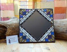 handmade mosaic mirror by Adela Webb of Moon Hare Studios   Flickr