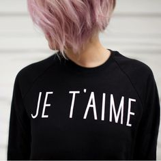 je'taime type sweatshirt by whistle & flute