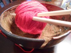 Large Brown yarn Bowl by KandLStudios on Etsy