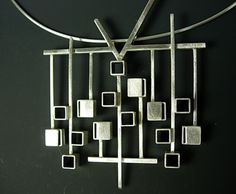 Necklace | Hilary Hachey. 'Carousel' detail. Sterling silver