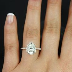 GIA Certified 2.00 Ct Flawless Pear Cut Diamond Engagement Ring 18K Rose Gold #DiamondJewelersCo #SolitairewithAccents