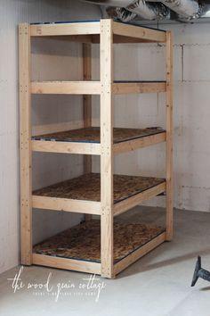 Lovely Storage Shelves Basement