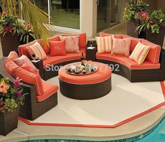 2017 4pcs Outdoor furniture garden Sofa Set - Frontgate, Patio Furniture