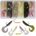 Bass'n GrubMaster Kit #madeinusa This compact, complete kit is perfect for the avid Bass Angler, featuring a unique new approach to fishing with jigs and plastics. Kit contains patented Bass GrubMaster Jig heads and popular Kalin Grub tails in the hottest colors and sizes. Instructions and diagrams on rigging are included. Super kit for both Largemouth and Smallmouth Bass.