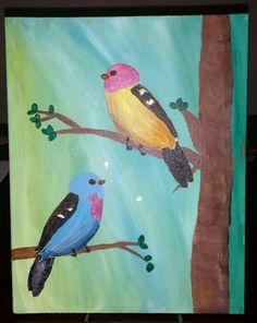 Acrylic, birds