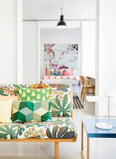 Bright furniture and art / natural light