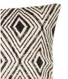 Mønstret pudebetræk | Naturhvid/Antracitgrå | Home | H&M DK
