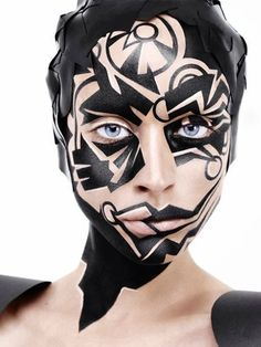 Make-up Artist: Alex Box | Artistic & Editorial #avant garde #fantasy makeup. #illamasqua