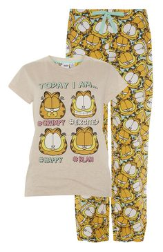 10 Primark - Garfield PJ Set