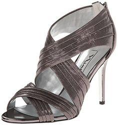 sandals: Nina Women's Melizza Dress Sandal, Pewter, 9 M US Dress Sandals, Shoes Sandals, Heels, Fashion Sandals, Pewter, Footwear, Shoe Bag, Womens Fashion, Stuff To Buy