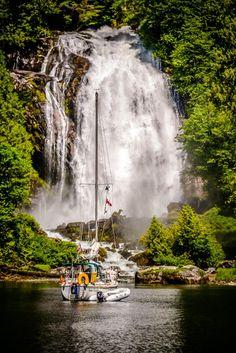 Princess Louisa Inlet - West Coast Wilderness Lodge B. Vancouver City, Vancouver Island, Gambier Island, Powell River, San Juan Islands, Beautiful Waterfalls, Sunshine Coast, Beautiful Places, You're Beautiful