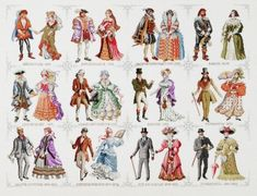 Historical Costumes Counted Cross Stitch Kit by Pako