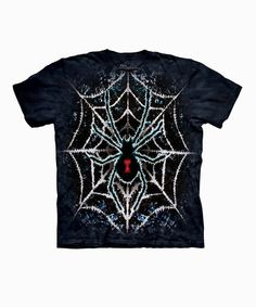 Take a look at this Black Tie-Dye Spider Tee - Toddler & Kids by The Mountain on #zulily today!