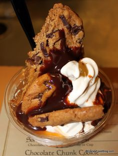 chocolate chunk cookie hot fudge caramel sundae1 - best use of snack credits - Storeybrook treats in magic kingdom