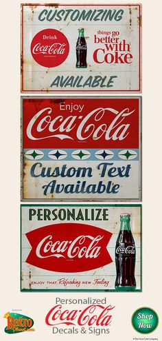 238 Best Coca Cola Signs Images On Pinterest In 2018