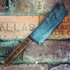 Tired and worn out cleaver I found this weekend still has some life left and has some great copper rivets. #oldtools #vintagedecor #vintagehome #fleamarketfinds #imake #repurpose #antique #rust #rustygold #rustic #rusticdecor #reclaimed #patina #antiquing #restoration #oddities #oldhouselove #salvage #interiordesign #lightingdesign #americana #industriallighting #lighting #oldstuff #retro #vintage #industrialdecor #junk #rust #americanvintage by californiarediscovered
