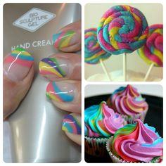 Sweet Bio Sculpture Gel Gorgeous Nails, Pretty Nails, Bio Sculpture Gel, Pretty Nail Designs, Pedi, Beautiful Cakes, Summer Nails, Nail Art, Nail Ideas