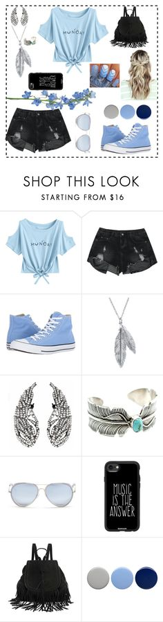 """""""light blue anda black"""" by maria-eugenia-i on Polyvore featuring Converse, Nina B, Matthew Williamson, Casetify and Burberry"""