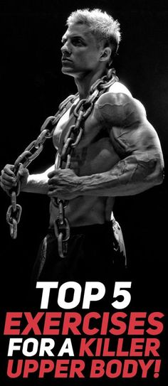 Check out the top 5 exercises that will help you sculpt your dream upper body like no other exercise! Photo Credit: Bodybuilding.com Photo Model: Steve Cook #fitness #fit #health #gym #fitnessworkout #absworkout #exercise #workout #fitfam