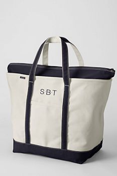 Extra Large Natural Zip Top Canvas Tote Bag from Lands' End. My next diaper bag!