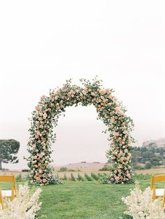 Perfect Blush and Blue Pastel Wedding at Catalina View Gardens Love this wedding ceremony arch for an outdoor wedding. Wedding Arch Flowers, Wedding Ceremony Arch, Wedding Altars, Beach Wedding Reception, Wedding Ceremony Decorations, Ceremony Backdrop, Floral Wedding, Wedding Bouquets, Destination Wedding