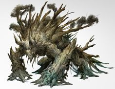 Forest Fellow - mobile tree monster - art by Kekai Kotaki for Guild Wars 2 Tree Monster, Plant Monster, Monster Art, Monster Drawing, Mythological Creatures, Fantasy Creatures, Mythical Creatures, Creature Feature, Creature Design