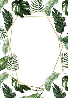 Tropical Wedding Invitation Templates New Tropical Leaves – Wedding Invitation Template Free Free Framed Wallpaper, Plant Wallpaper, Flower Background Wallpaper, Flower Backgrounds, Wallpaper Backgrounds, Leaves Wallpaper, Tropical Background, Tropical Wallpaper, Party Background
