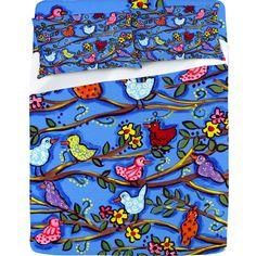 Renie Britenbucher Spring Birds and Blossoms Sheet Set