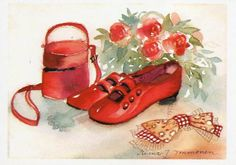 Postcrossing postcard from Finland Baby Shoes, Stamp, Wall Art, Cute, Images, Painting, Pretty, Finland, Drawings