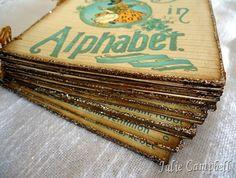 Cute handmade album with glitter edges...
