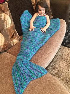 This Listing is for the crochet pattern only not a finshed item. If you would like a memaid tail made please message me. Written in US terms You will need to have a basic understanding of crochet and crochet terms to complete this Mermaid Tail. Yarn used is Stylecraft Special DK, using 3 strands throughout the whole pattern with a 10mm hook  9 different sizes from toddler to adult The tail opens up at the back making it easy to get in and out of You can choose to use all 3 strand the same…