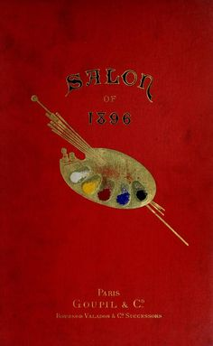 Front Cover of 'Salon of 1896' by Goupil & Co. Paris. archive.org