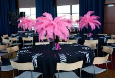 Elegant Unique Wedding Centerpieces   The Wedding Specialists ostrich feather decorations wedding