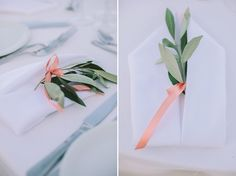 Wedding Table Settings decorated with olive brunches - a Wedding In Messinia by Stella & Moscha -Photography: Thanos Asfis Greek Culture, Destination Wedding Inspiration, Wedding Table Settings, Brunches, Island Weddings, Unique Weddings, Greece, Diy, Photography