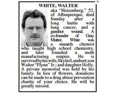 El Obituario de Walter White