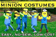 Harvard Homemaker Easy No-Sew DIY Minion Costumes - Harvard Homemaker