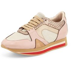 Burberry The Field Multicolor Leather/Snake Sneaker