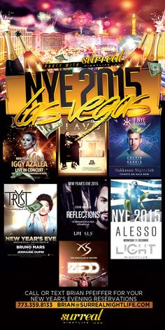 Time to Book your New Year's Eve in Chicago and Las Vegas, Making 2015 Profitable It's All Here!