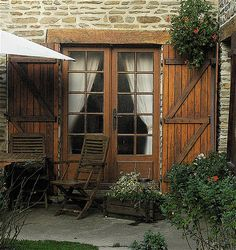 lovely old french doors~ decorating #rustic