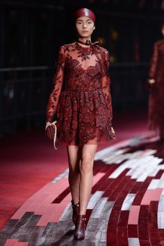 Valentino's Shanghai Red // absolutely breathtaking color and beaded detail
