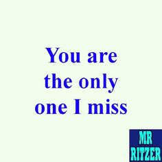 #MrRitzer #You