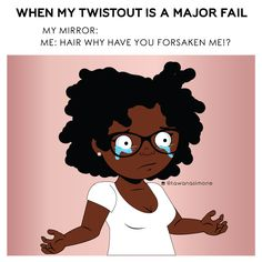 One of those days? Twist out not working out the way you like? That's where we come in, book your appointment today! We make natural hair easy✨ . Girls Natural Hairstyles, Easy Hairstyles, Girl Hairstyles, Natural Hair Art, Natural Hair Styles, Instagram Cartoon, Crying Girl, Second Day Hairstyles, Mermaid Blanket