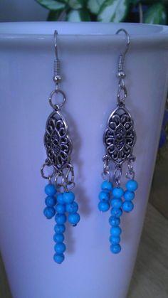 Turquoise Chandelier Earrings by LaramarDesigns on Etsy, $16.00