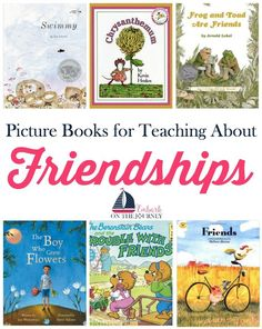 About Friendships with Picture Books Picture books are a great way to talk to your kids about what makes a good friend. Here's a short list with a free printable pack for teaching your kids about friendships. Preschool Friendship, Friendship Lessons, Preschool Books, Book Activities, Sequencing Activities, Preschool Classroom, Social Emotional Learning, Social Skills, Social Work