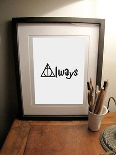 Harry Potter Always Deathly Hallows Quote 8 x 10 Art Print Dobby Harry Potter, Harry Potter Food, Harry Potter Anime, Movie Crafts, Superhero Room, My Cup Of Tea, Mischief Managed, Deathly Hallows, Decoration