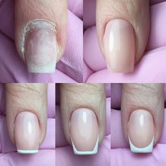 Stunning 48 Enchanting Diy Nail Designs Ideas You Must Try French Manicure Nails, French Tip Nails, Manicure And Pedicure, Diy Nails, Cute Nails, Pretty Nails, Nail French, French Nail Designs, Diy Nail Designs