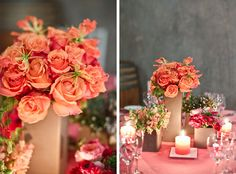 Pink & peach wedding inspiration by Valley Flora at Viansa Winery. Tinywater Photography, http://tinywater.com